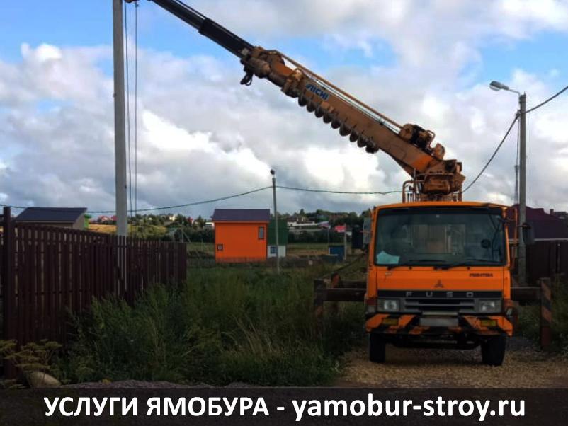 Установка столбов в Яльгелево