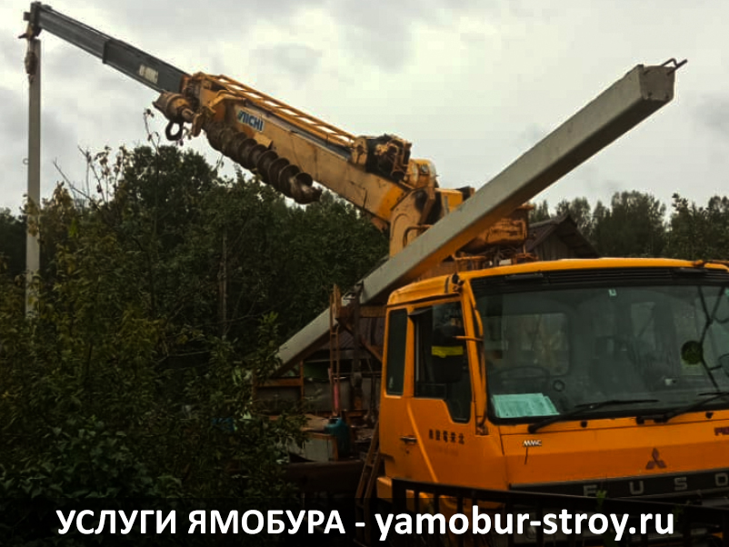 Установка столбов в Гатчинском районе