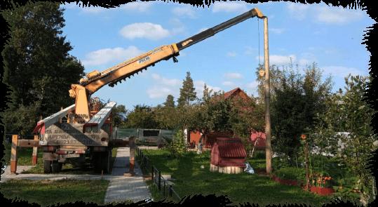 установка столба на дачном участке