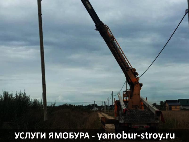 Установка столбов во Всеволожском районе