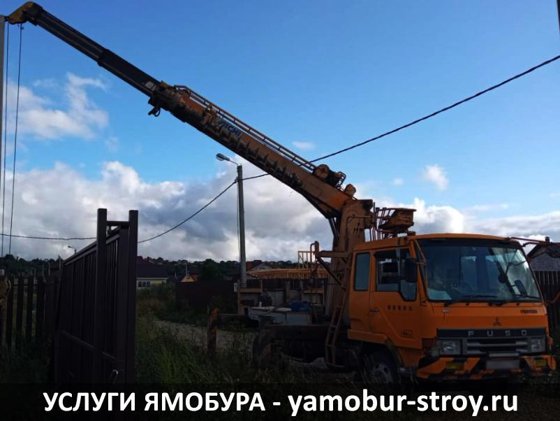 Установка столбов в Ломоносовском районе