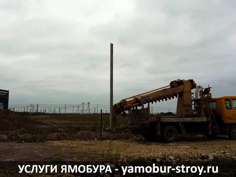 Установка столбов в Ленинградской