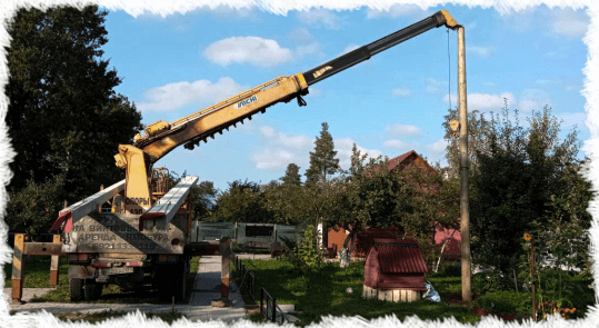 установка столбов ямобуром